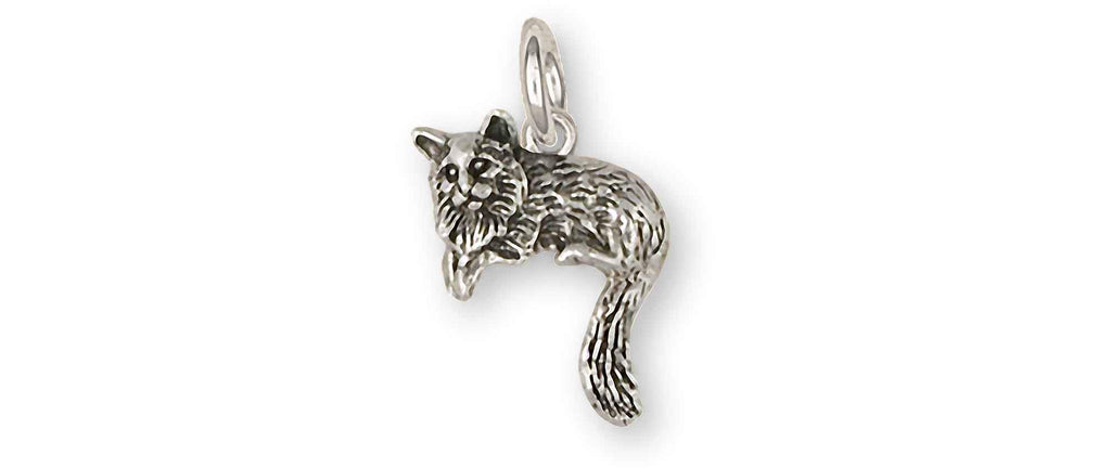 Cat Charms Cat Charm Sterling Silver Cat Jewelry Cat jewelry