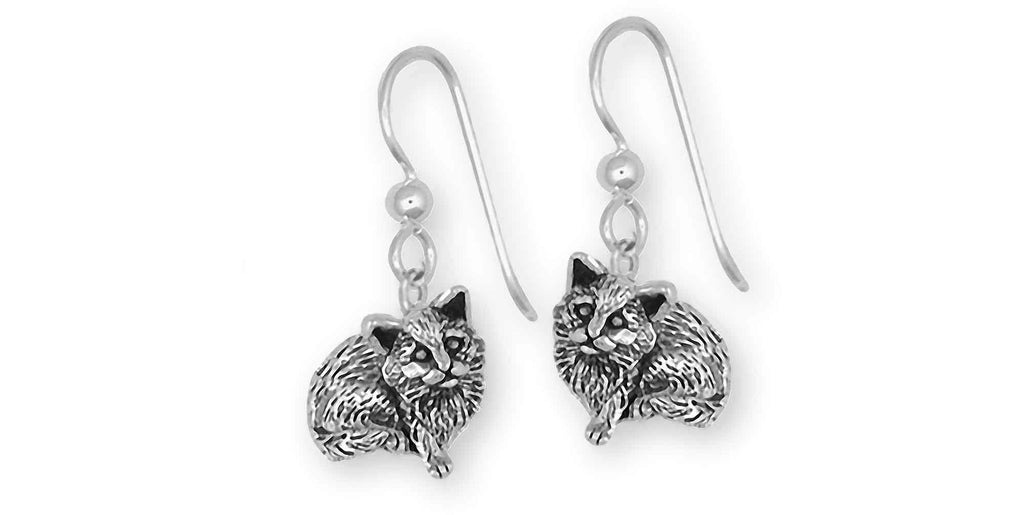 Cat Charms Cat Earrings Sterling Silver Cat Jewelry Cat jewelry