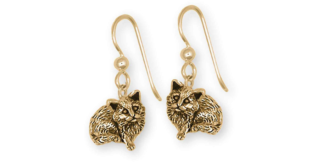 Cat Charms Cat Earrings 14k Gold Cat Jewelry Cat jewelry