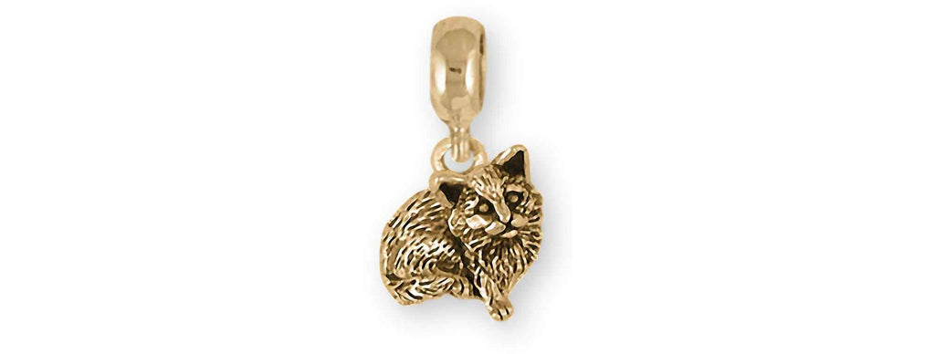 Cat Charms Cat Charm Slide 14k Gold Cat Jewelry Cat jewelry