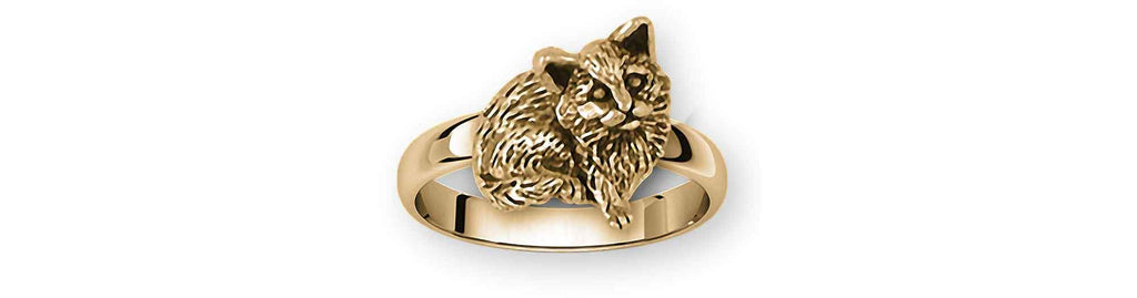 Cat Charms Cat Ring 14k Gold Cat Jewelry Cat jewelry