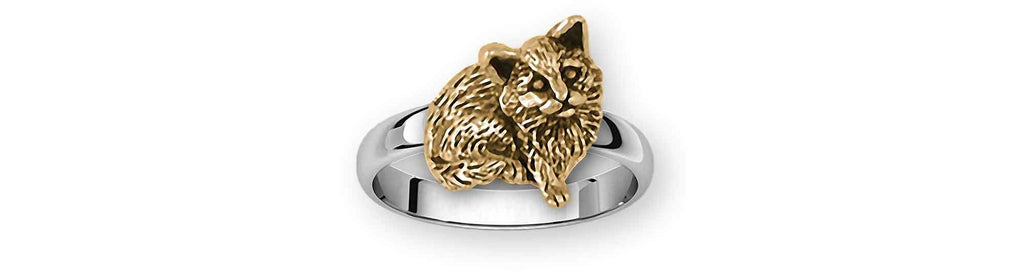 Cat Charms Cat Ring Silver And 14k Gold Cat Jewelry Cat jewelry