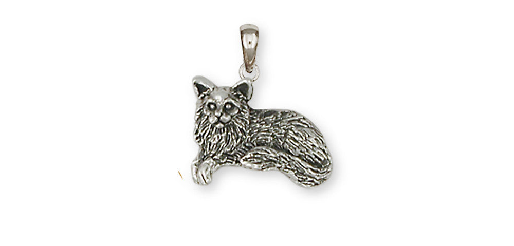 Maine Coon Cat Charms Maine Coon Cat  Handmade Sterling Silver Cat Jewelry Maine Coon Cat jewelry