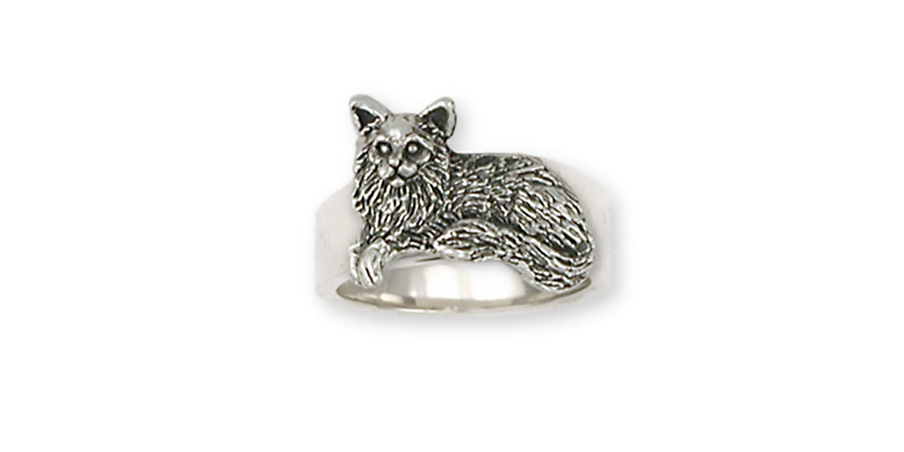 Maine Coon Cat Charms Maine Coon Cat Ring Handmade Sterling Silver Cat Jewelry Maine Coon Cat jewelry