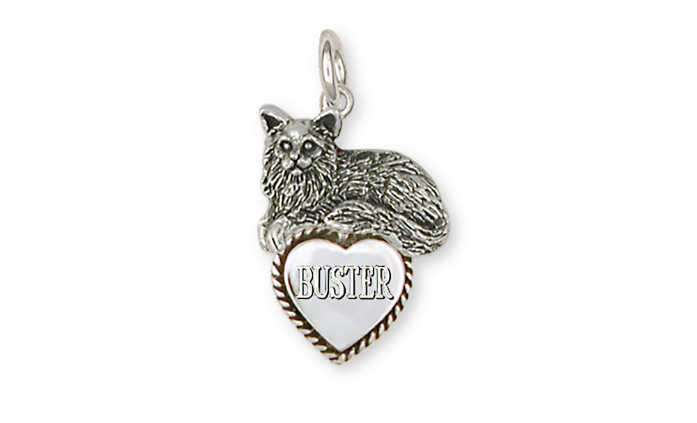 Maine Coon Cat Charms Maine Coon Cat Charm Handmade Sterling Silver Cat Jewelry Maine Coon Cat jewelry