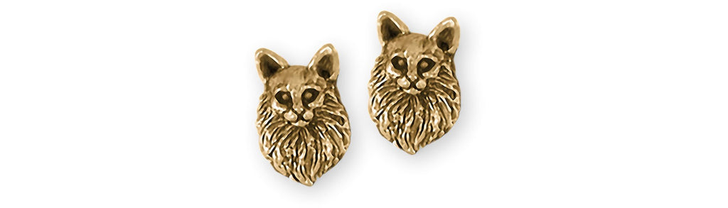 Maine Coon Charms Maine Coon Earrings 14k Gold Maine Coon Jewelry Maine Coon jewelry