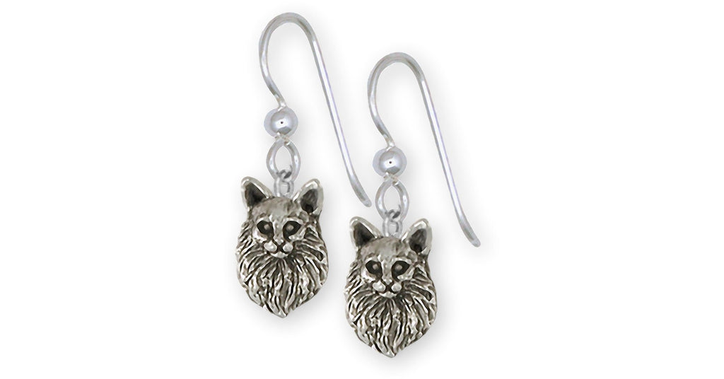 Maine Coon Charms Maine Coon Earrings Sterling Silver Maine Coon Jewelry Maine Coon jewelry