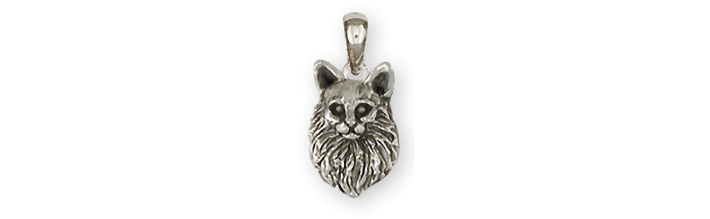 Maine Coon Charms Maine Coon Pendant Sterling Silver Maine Coon Jewelry Maine Coon jewelry