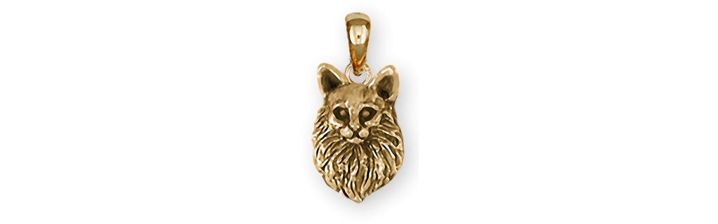Maine Coon Charms Maine Coon Pendant 14k Gold Maine Coon Jewelry Maine Coon jewelry