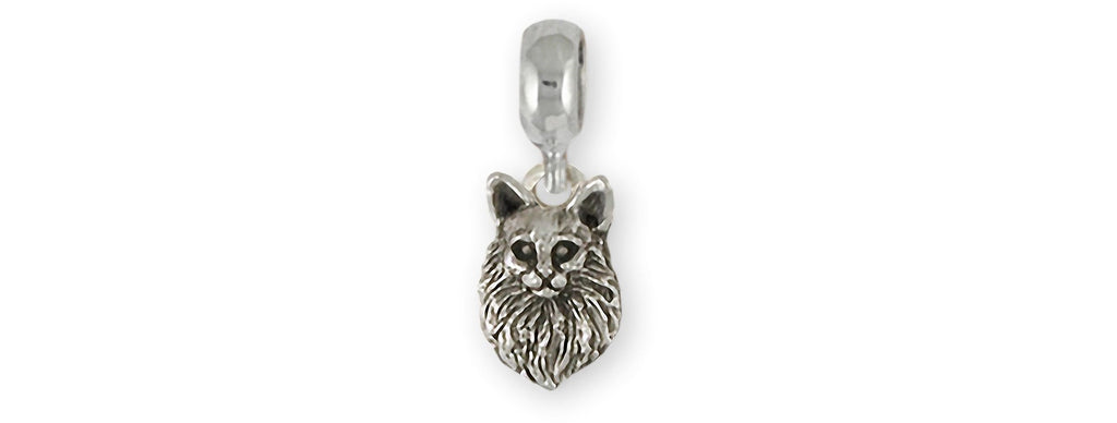 Maine Coon Charms Maine Coon Charm Slide Sterling Silver Maine Coon Jewelry Maine Coon jewelry