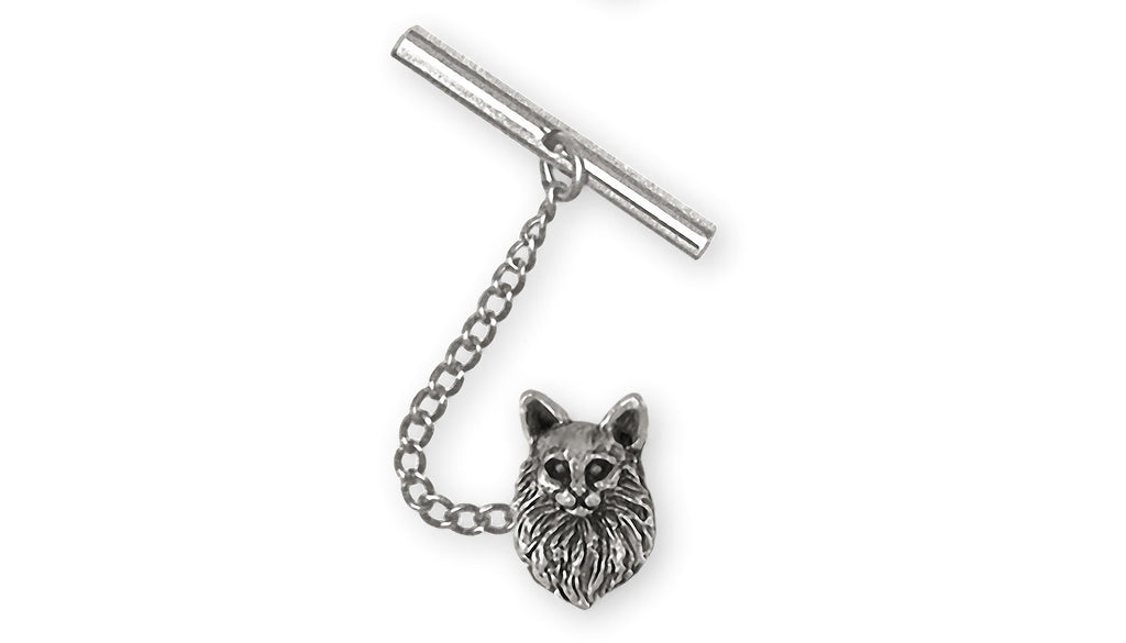 Maine Coon Charms Maine Coon Tie Tack Sterling Silver Maine Coon Jewelry Maine Coon jewelry