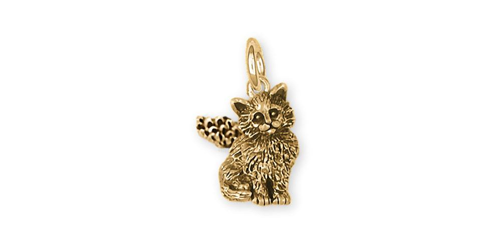 Maine Coon Charms Maine Coon Charm 14k Gold Cat Jewelry Maine Coon jewelry