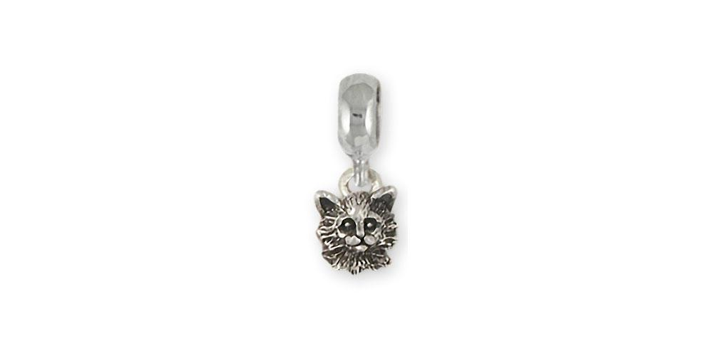 Maine Coon Charms Maine Coon Charm Slide Sterling Silver Cat Jewelry Maine Coon jewelry