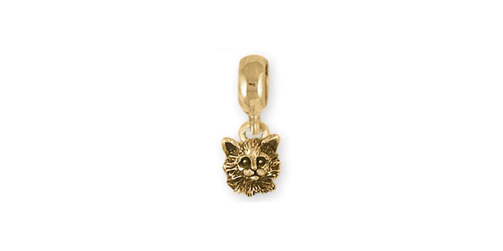 Maine Coon Charms Maine Coon Charm Slide 14k Gold Cat Jewelry Maine Coon jewelry
