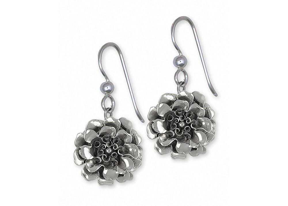 Marigold Charms Marigold Earrings Sterling Silver Flower Jewelry Marigold jewelry