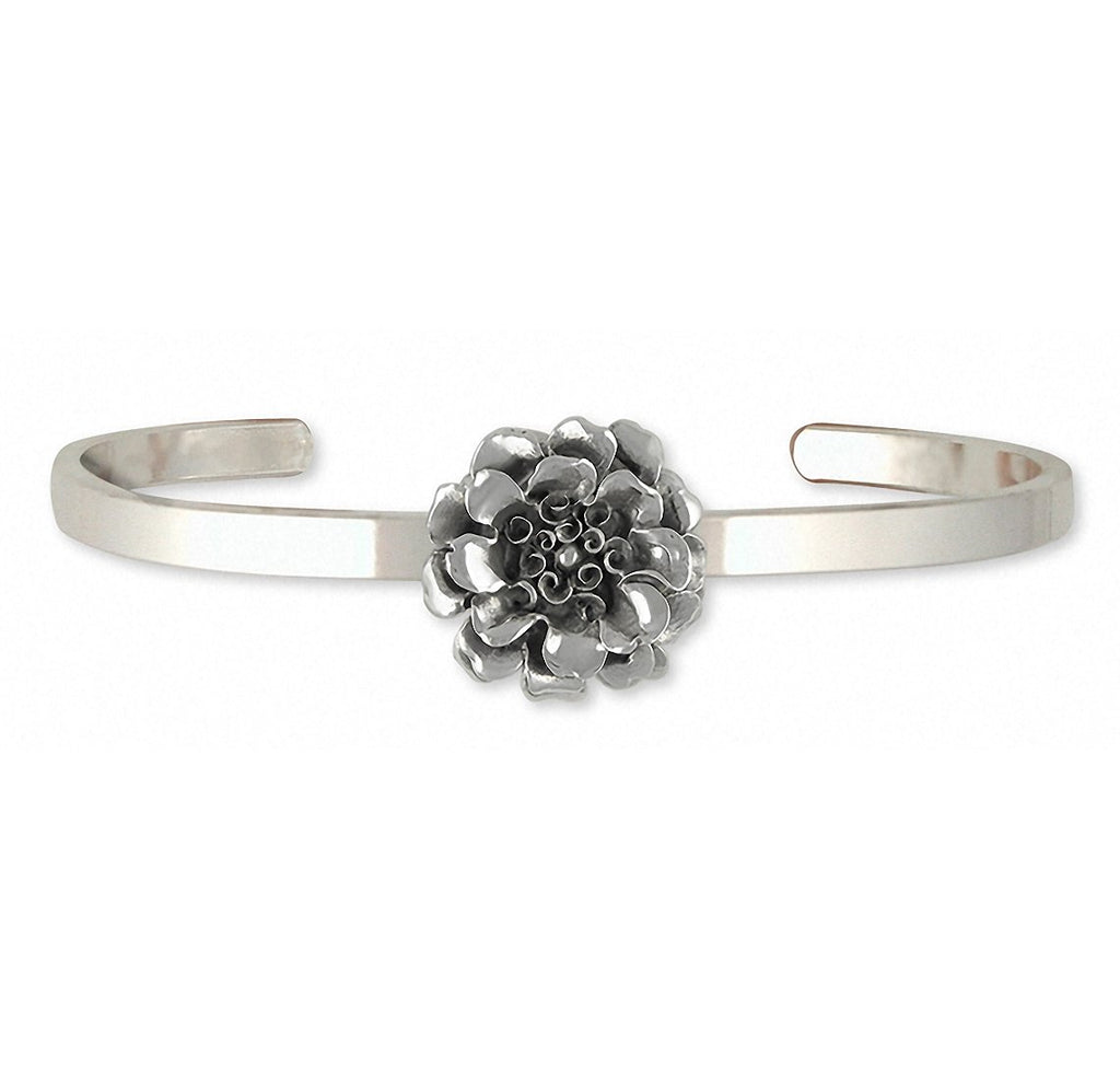 Marigold Charms Marigold Bracelet Sterling Silver Flower Jewelry Marigold jewelry