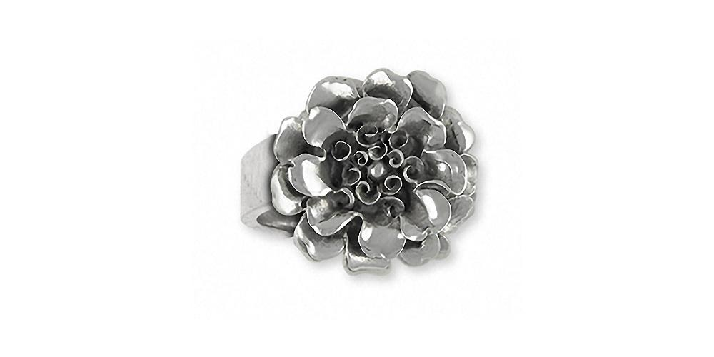 Marigold Charms Marigold Ring Sterling Silver Flower Jewelry Marigold jewelry