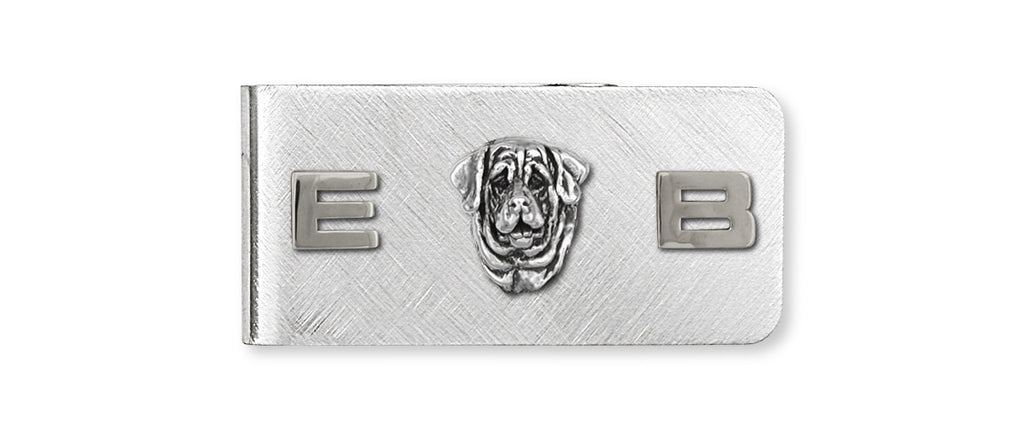 Mastiff Charms Mastiff Money Clip Sterling Silver Dog Jewelry Mastiff jewelry