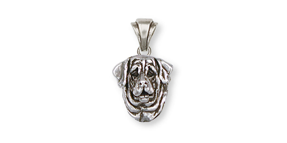 Mastiff Charms Mastiff Pendant Sterling Silver Dog Jewelry Mastiff jewelry