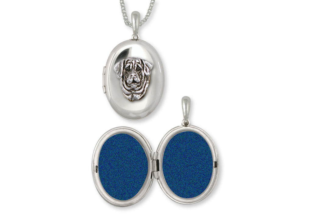 Mastiff Charms Mastiff Photo Locket Sterling Silver Dog Jewelry Mastiff jewelry