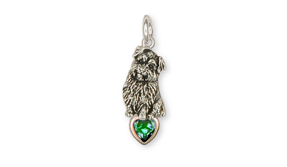 Norfolk Terrier Birthstone Charms Norfolk Terrier Birthstone Charm Sterling Silver Dog Jewelry Norfolk Terrier Birthstone jewelry