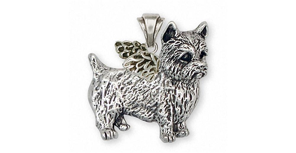 Norwich Norfolk Terrier Collectable Pendant Necklace with 18 inch Chain Silver