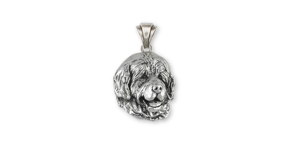 Newfoundland Charms Newfoundland Pendant Sterling Silver Dog Jewelry Newfoundland jewelry