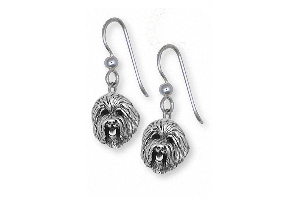 Old English Sheepdog Charms Old English Sheepdog Earrings Sterling Silver Dog Jewelry Old English Sheepdog jewelry
