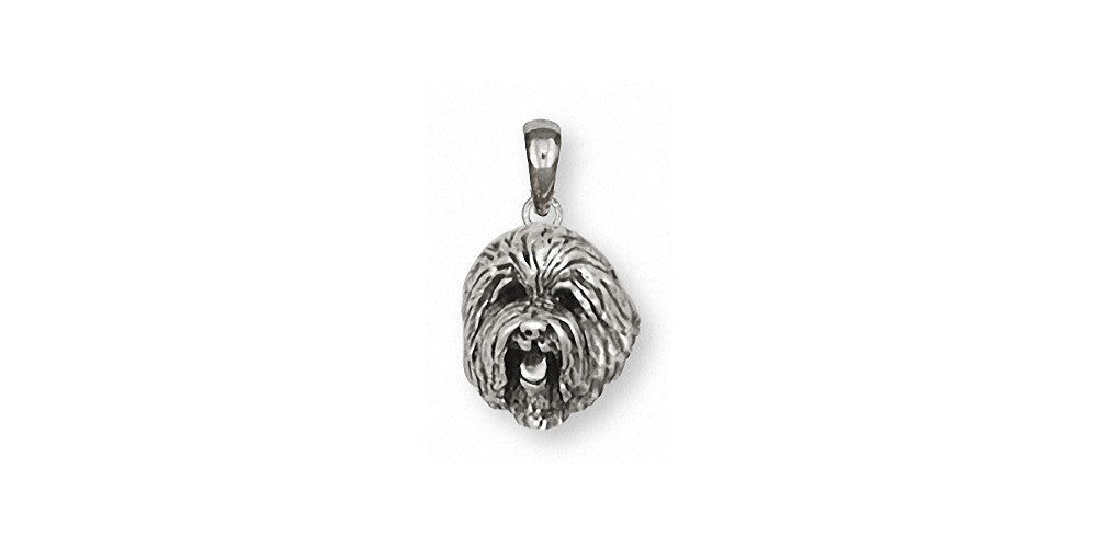 Old English Sheepdog Charms Old English Sheepdog Pendant Sterling Silver Dog Jewelry Old English Sheepdog jewelry
