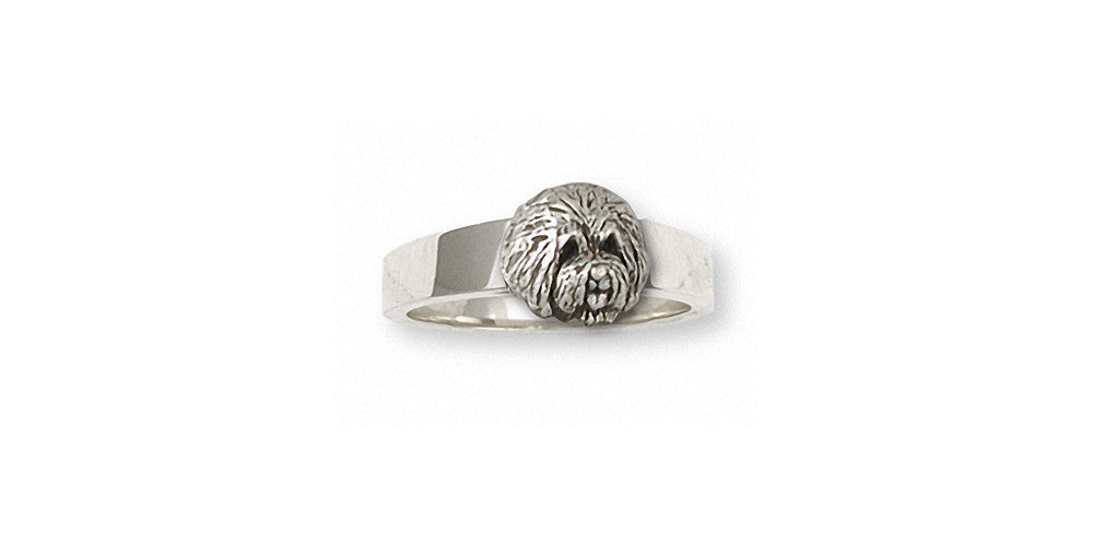 Old English Sheepdog Charms Old English Sheepdog Ring Sterling Silver Dog Jewelry Old English Sheepdog jewelry