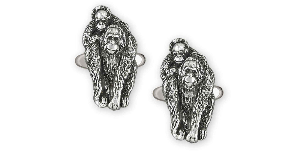 Orangutan Charms Orangutan Cufflinks Sterling Silver Orangutan And Baby Jewelry Orangutan jewelry