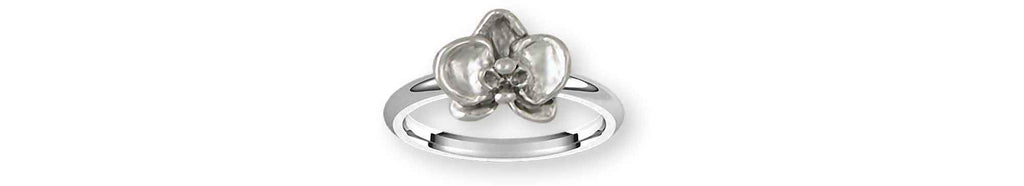 Orchid Charms Orchid Ring Sterling Silver Orchid Jewelry Orchid jewelry