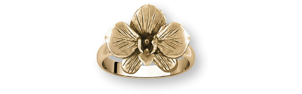 Orchid Charms Orchid Ring 14k Gold Orchid Flower Jewelry Orchid jewelry