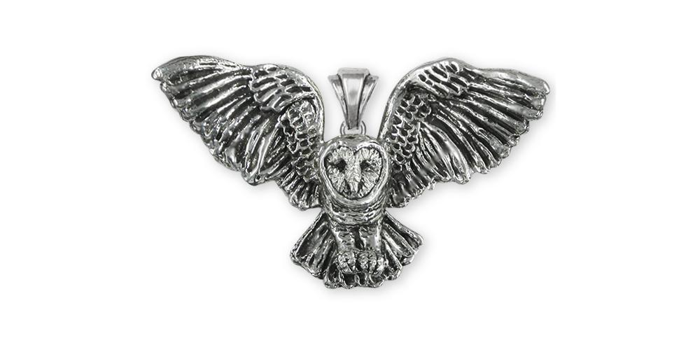 Barn Owl Charms Barn Owl Pendant Sterling Silver Owl Jewelry Barn Owl jewelry