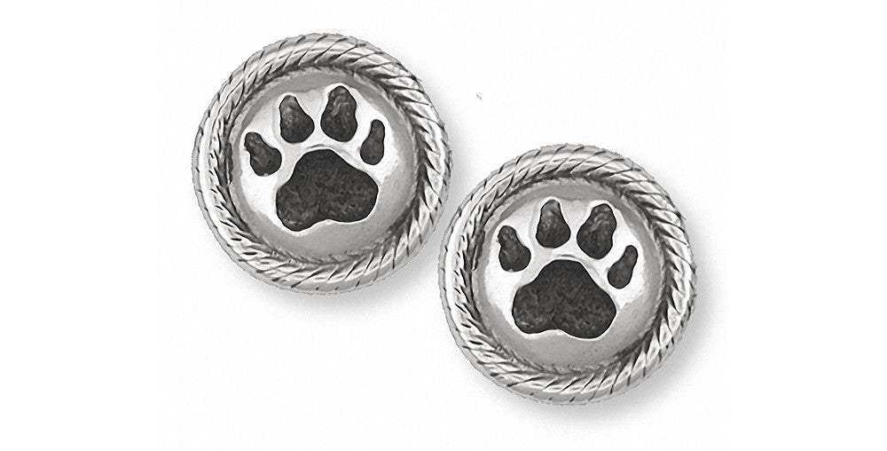 Dog Paw Charms Dog Paw Cufflinks Sterling Silver Dog Jewelry Dog Paw jewelry