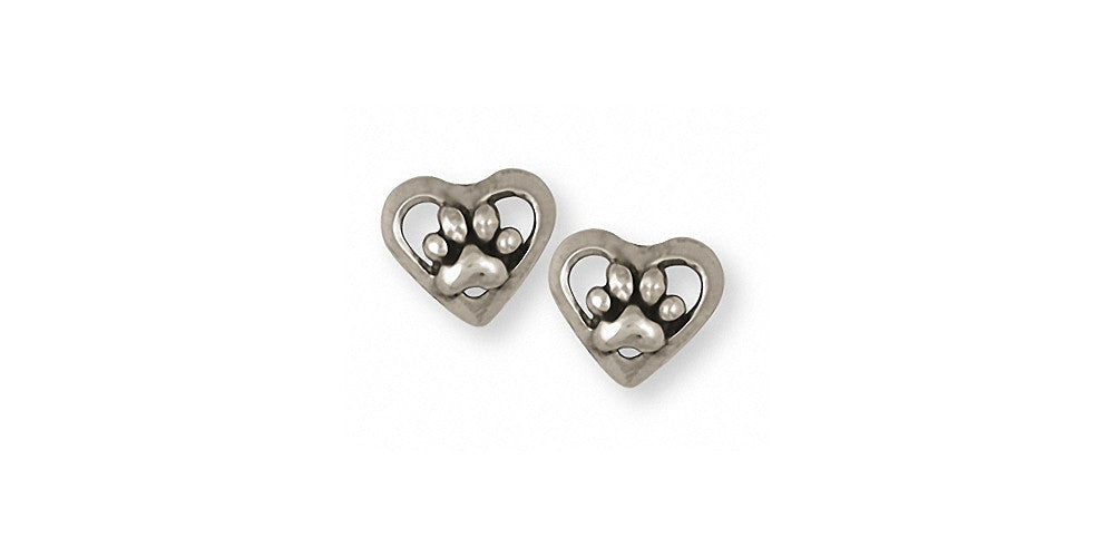 Dog Paw Charms Dog Paw Earrings Sterling Silver Dog Jewelry Dog Paw jewelry