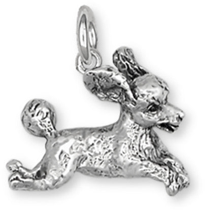 Poodle Charm Handmade Sterling Silver Dog Jewelry PD23-C