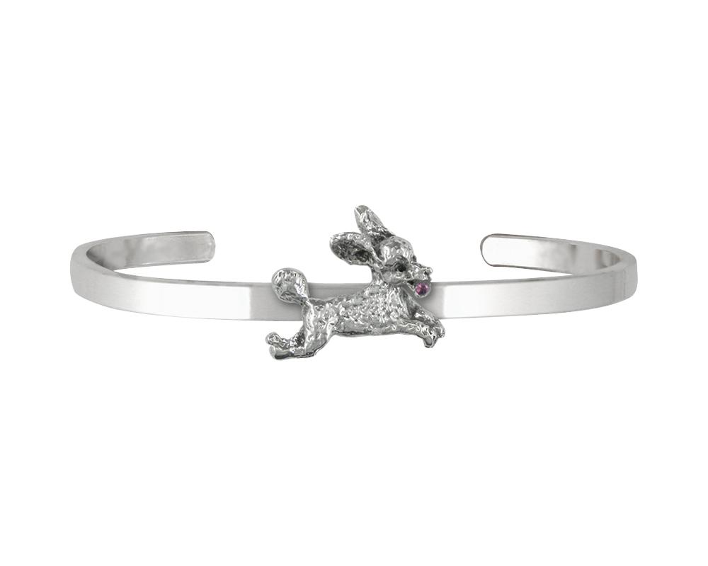 Poodle Charms Poodle Bracelet Sterling Silver Dog Jewelry Poodle jewelry