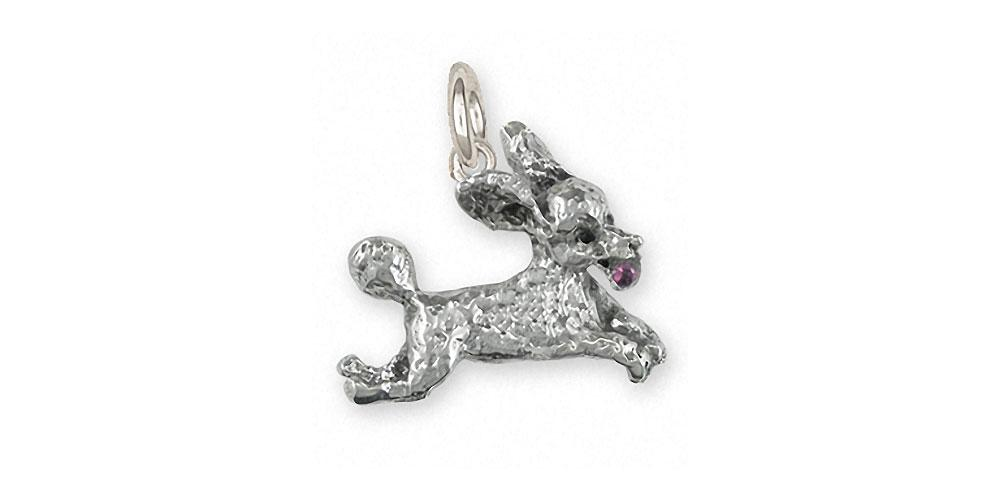 Poodle Charms Poodle Charm Sterling Silver Poodle Jewelry Poodle jewelry
