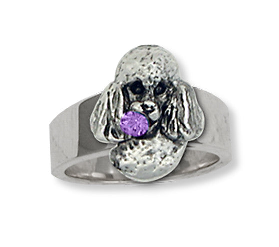Poodle Charms Poodle Ring Handmade Sterling Silver Dog Jewelry Poodle jewelry