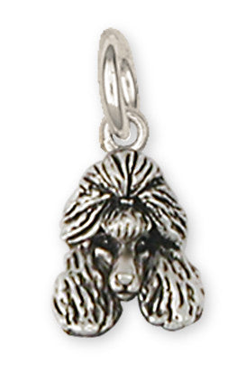 Poodle Charms Poodle Charm Handmade Sterling Silver Dog Jewelry Poodle jewelry