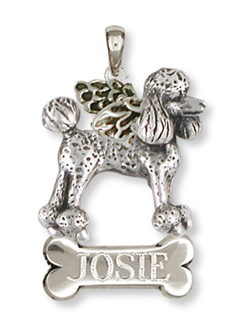 Poodle Angel Charm Handmade Sterling Silver Dog Jewelry PD61A-C
