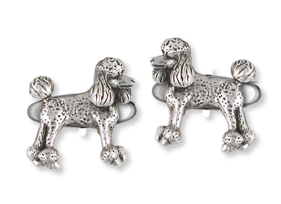 Poodle Charms Poodle Cufflinks Handmade Sterling Silver Dog Jewelry Poodle jewelry