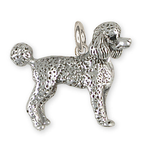 Poodle Charm Handmade Sterling Silver Dog Jewelry PD52-C