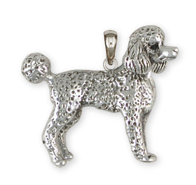 Poodle Pendant Handmade Sterling Silver Dog Jewelry PD52-P