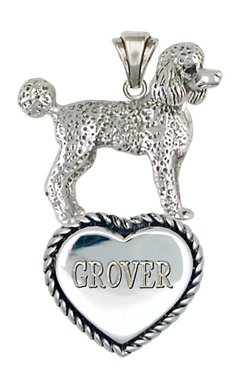 Poodle Personalized Pendant Handmade Sterling Silver Dog Jewelry PD52-TP
