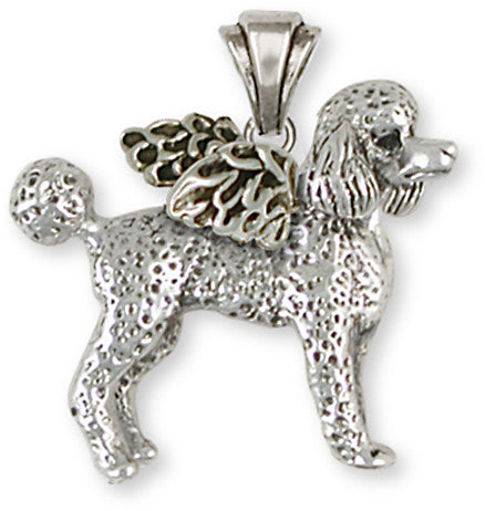 Poodle Angel Pendant Handmade Sterling Silver Dog Jewelry PD52A-P