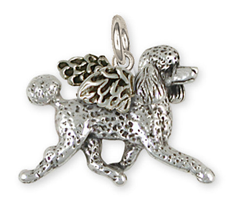 Poodle Angel Charm Handmade Sterling Silver Dog Jewelry PD53A-C