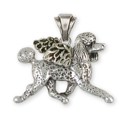 Poodle Angel Key Ring Handmade Sterling Silver Dog Jewelry PD53A-P