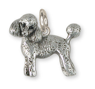 Poodle Charm Handmade Sterling Silver Dog Jewelry PD55-C